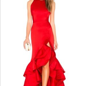 Frida flame gown in red
